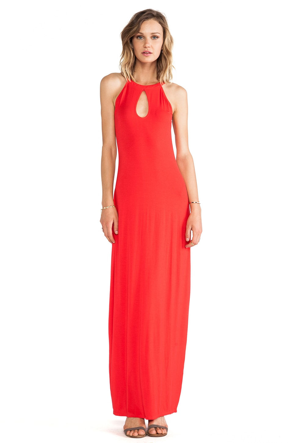 Lovers + Friends Every Night Maxi in Poppy
