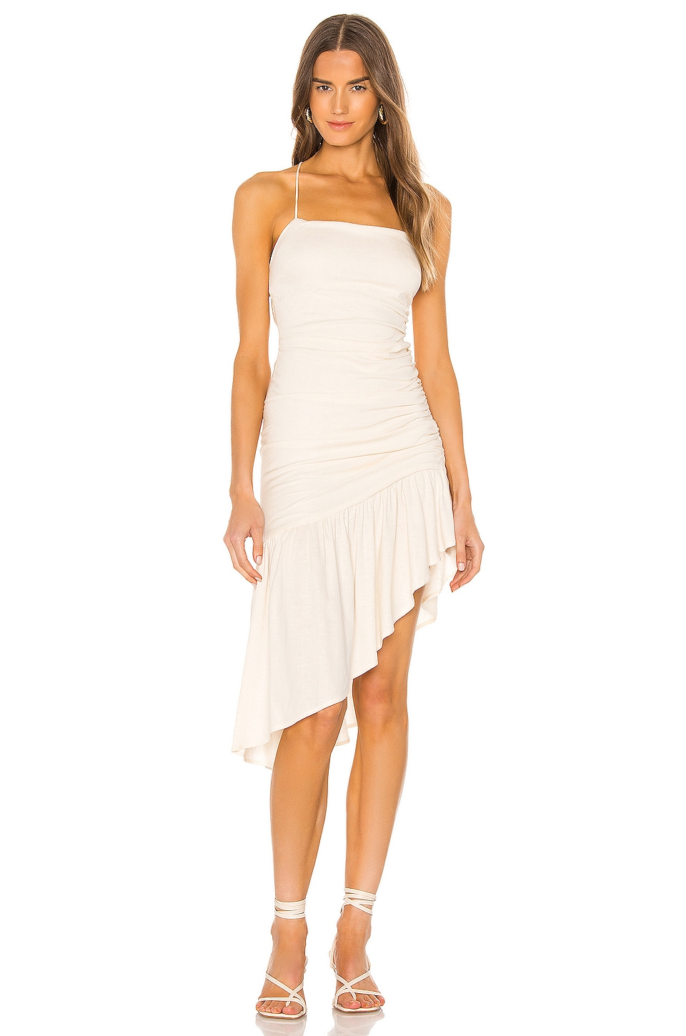 Lovers + Friends Naomi Dress in Light Beige