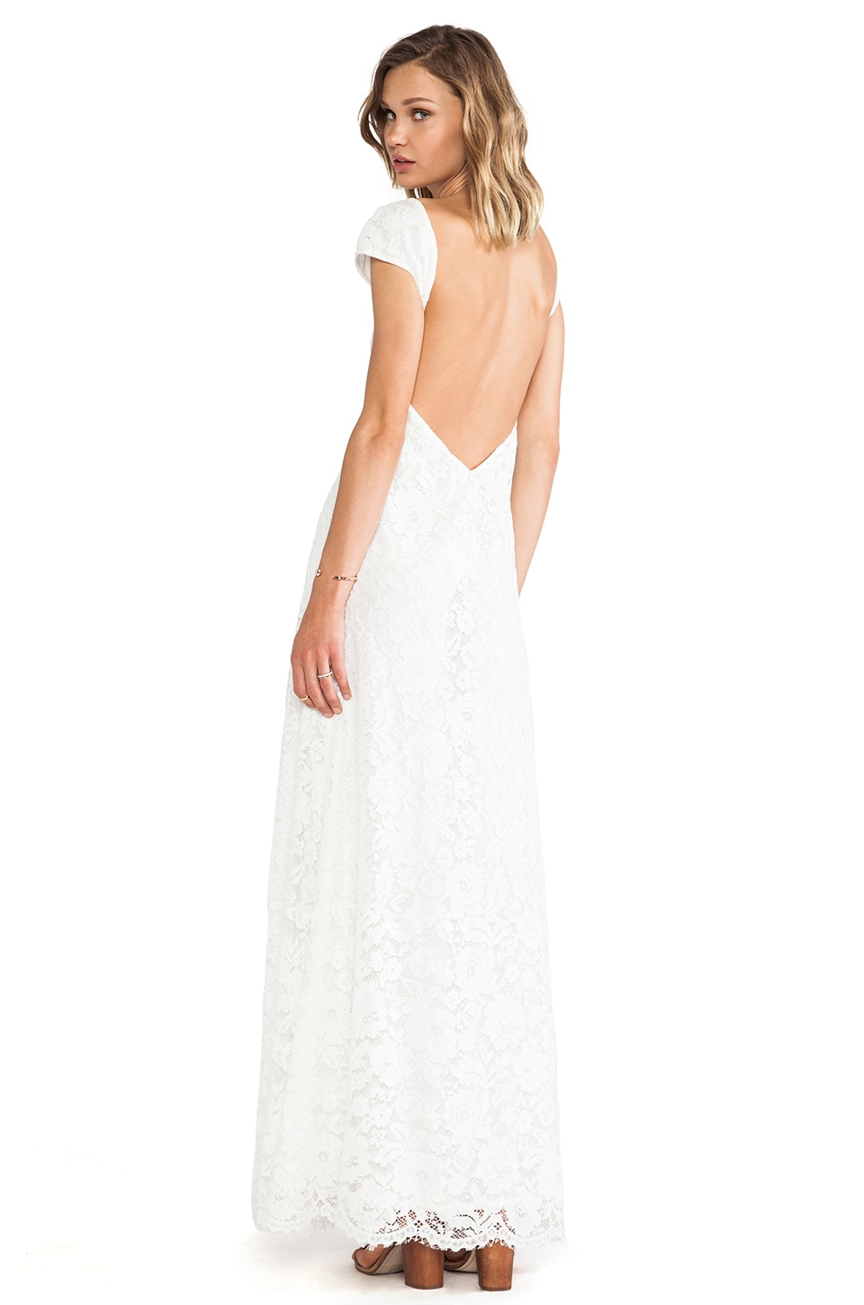 Lovers + Friends Vanity Fair Dress in White Lace