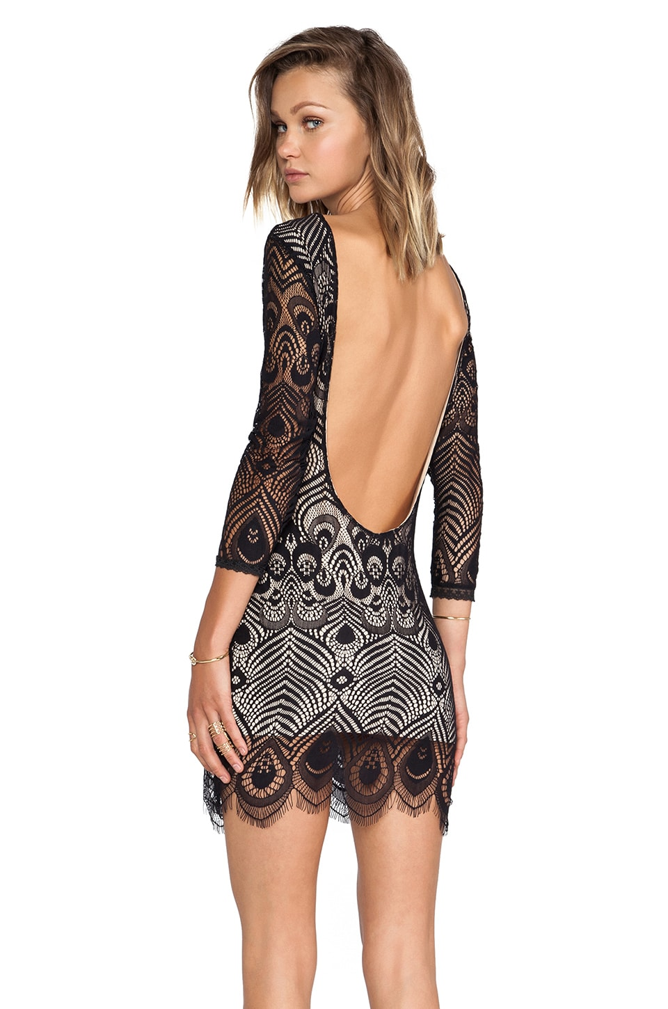 Lovers + Friends Sterling Bodycon Dress in Black
