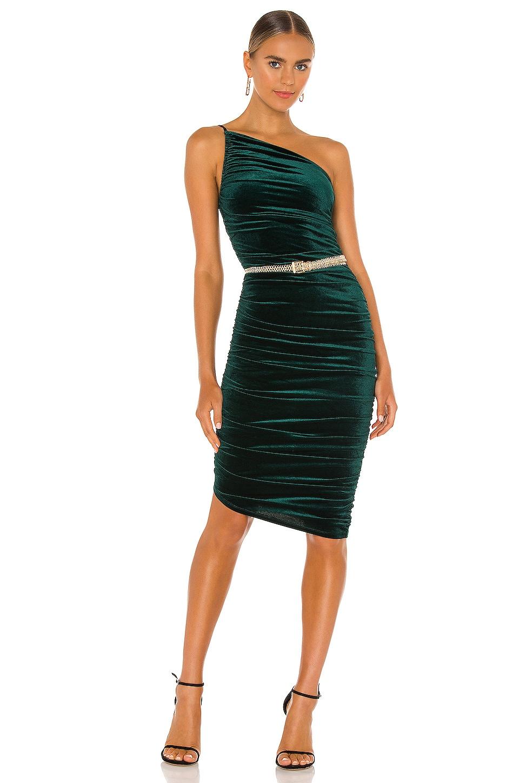 Lovers + Friends Milwood Midi Dress in Emerald Green