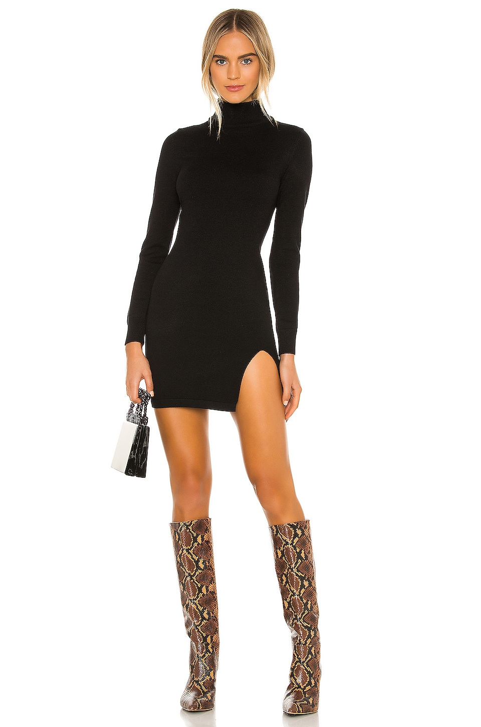 Lovers and Friends Tamarin Sweater Dress in Black