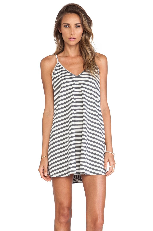Lovers + Friends Ocean Day Dress in Heather Grey Stripe