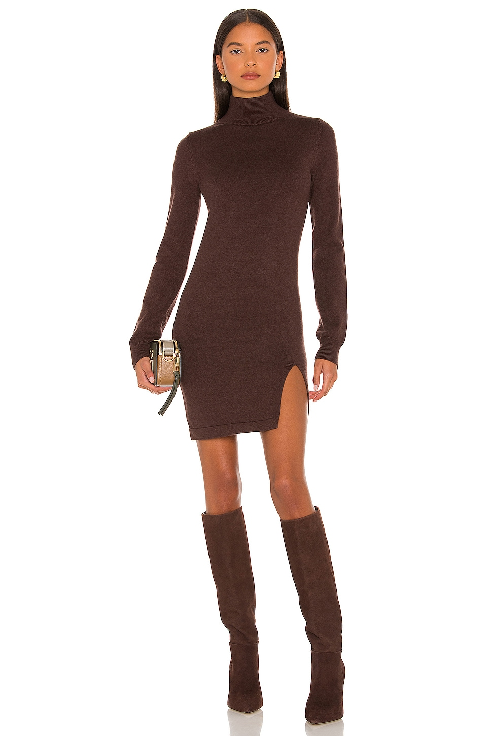 Lovers and Friends Tamarin Sweater Dress in Brown