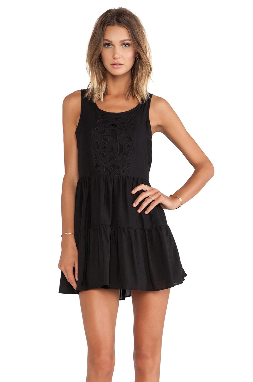 Lovers + Friends Secret Crush Babydoll Dress in Black