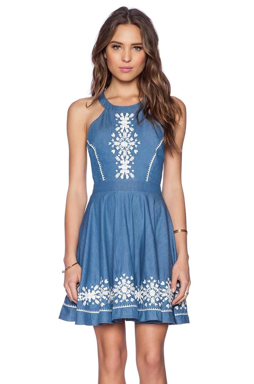 Lovers + Friends Hazel Dress in Blue Lagoon