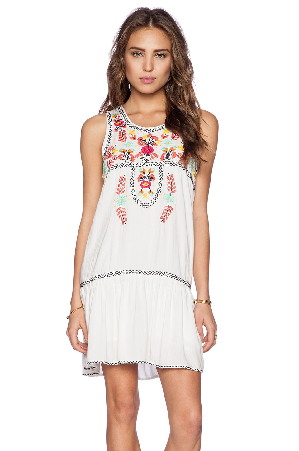 Lovers + Friends I Heart Babydoll Dress in Ivory