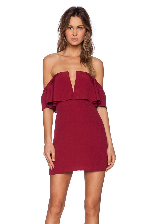 Lovers + Friends Primrose Dress in Wine