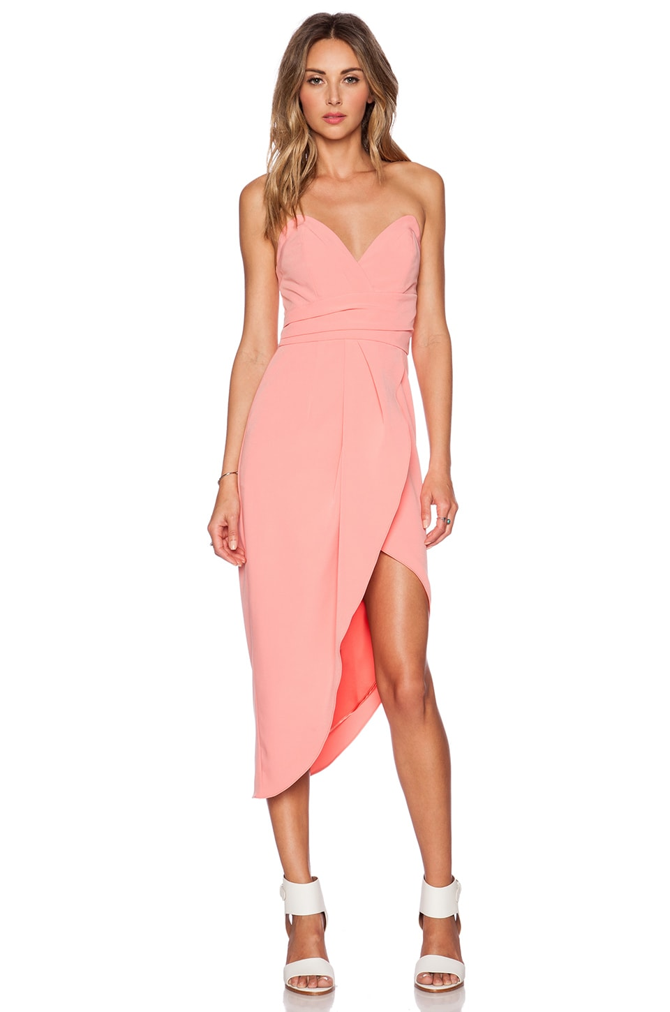 Lovers   Friends x REVOLVE Riviera Strapless Dress in Coral | REVOLVE