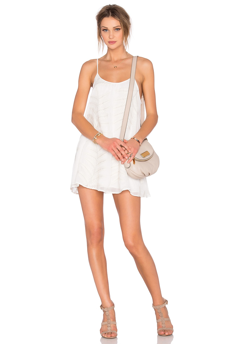Lovers + Friends Fly Away Mini Dress in Ivory