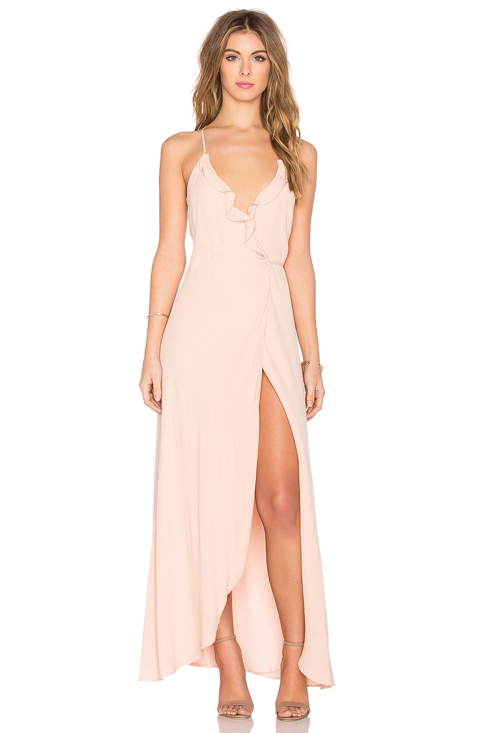 Lovers + Friends x REVOLVE Nostalgia Maxi Dress in Nude