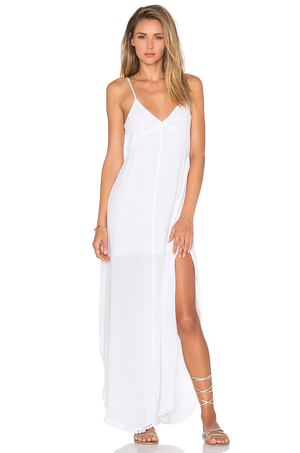 Lovers + Friends Curacao Slip Dress in Ivory