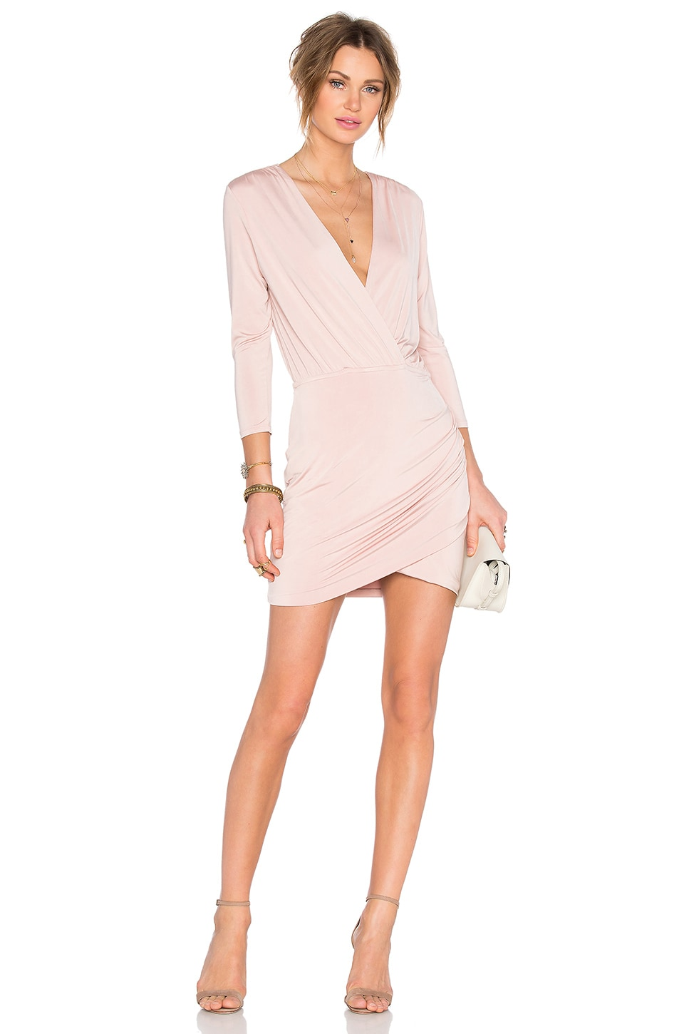 Lovers + Friends Love Happy Dress in Mauve