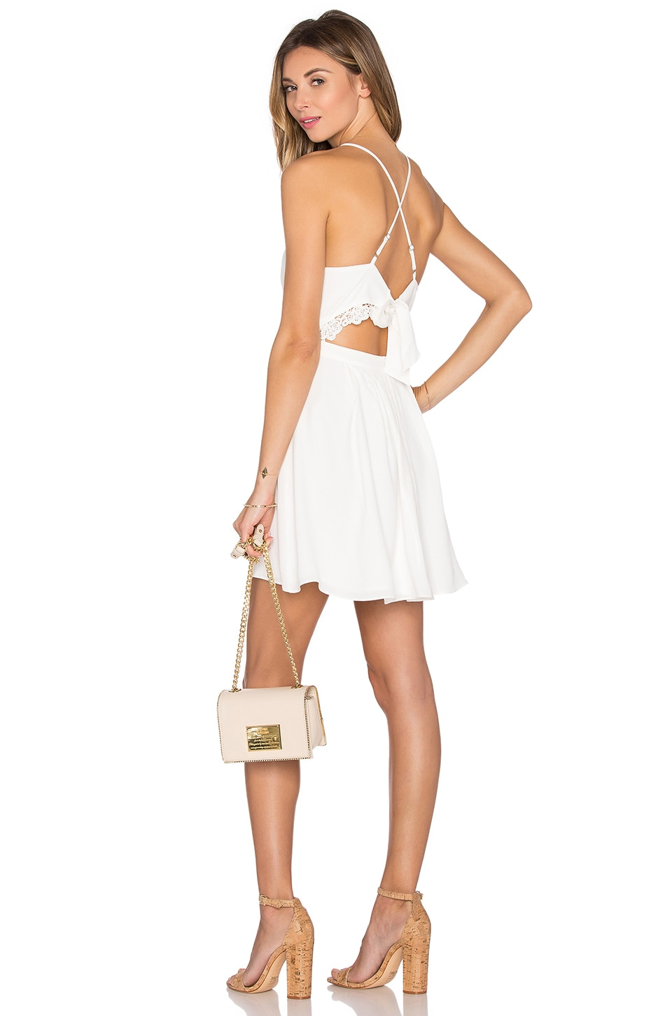 Lovers + Friends Forget Me Not Dress in Ivory