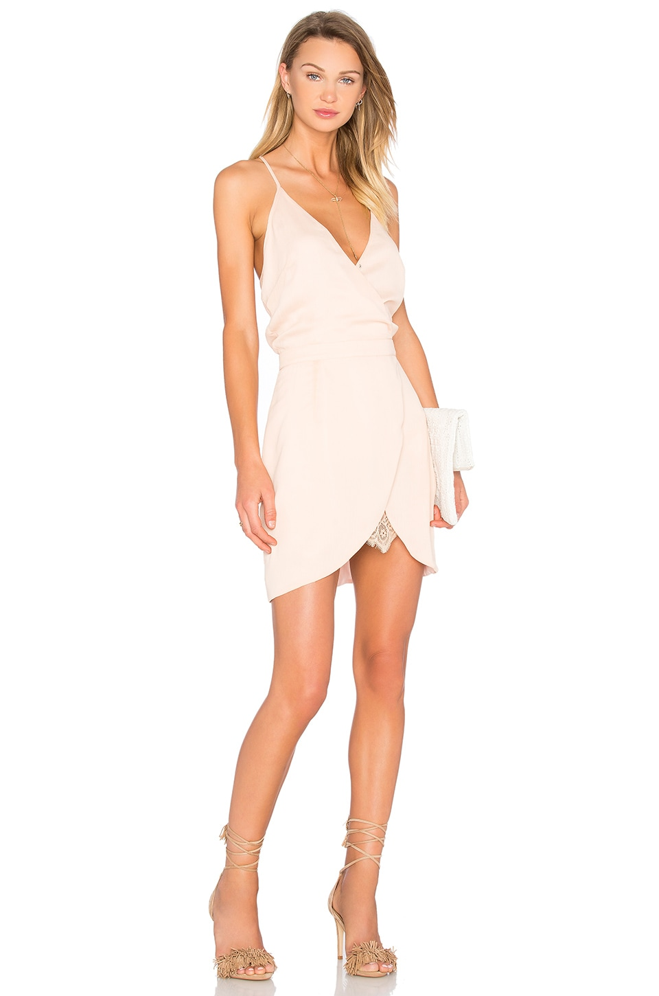 Lovers + Friends Soulmate Mini Dress in Papaya