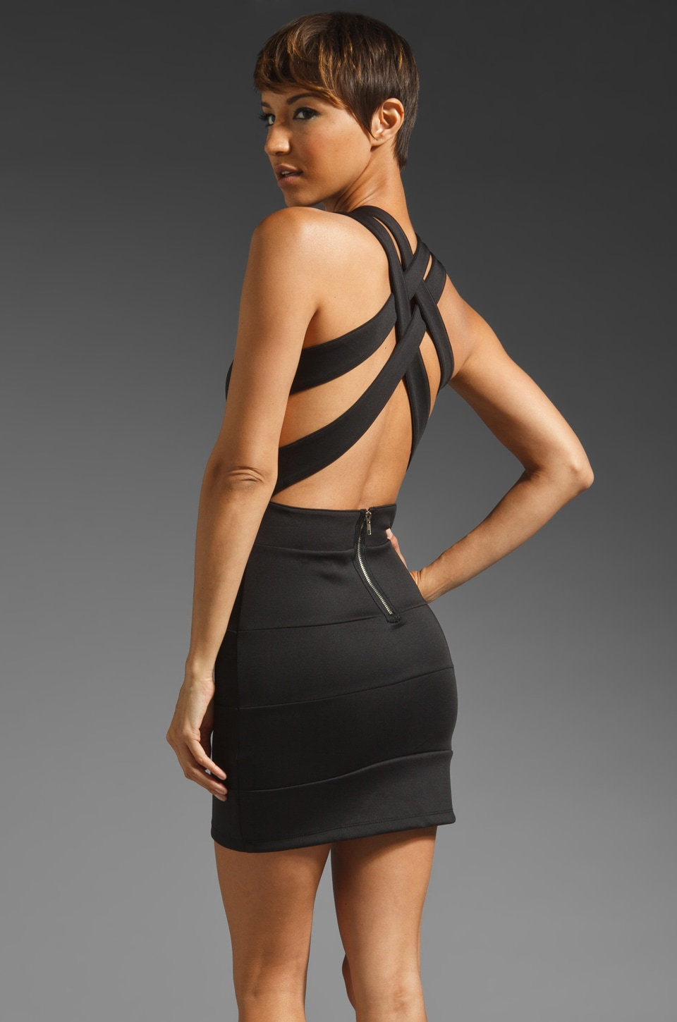 Lovers + Friends Worth the Waist Criss Cross Dress in Black