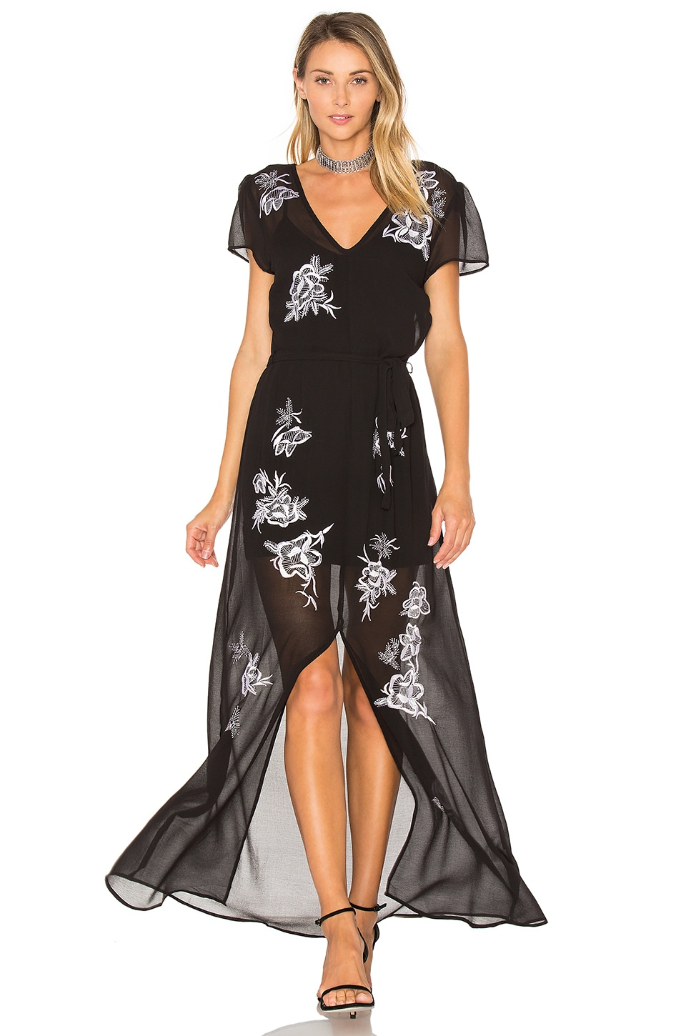 Lovers + Friends Sea Goddess Dress in Black