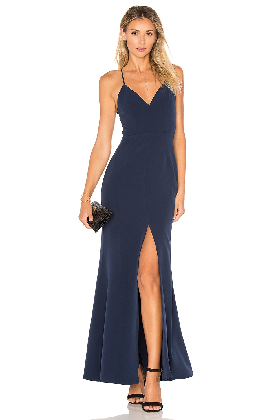 Lovers + Friends Helena Gown in Navy