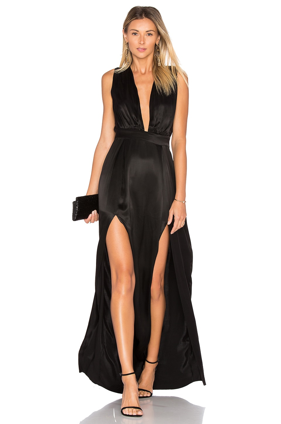Lovers + Friends Naomi Gown in Black