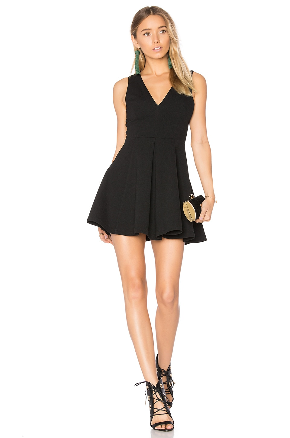 Lovers + Friends Geneva Dress in Black