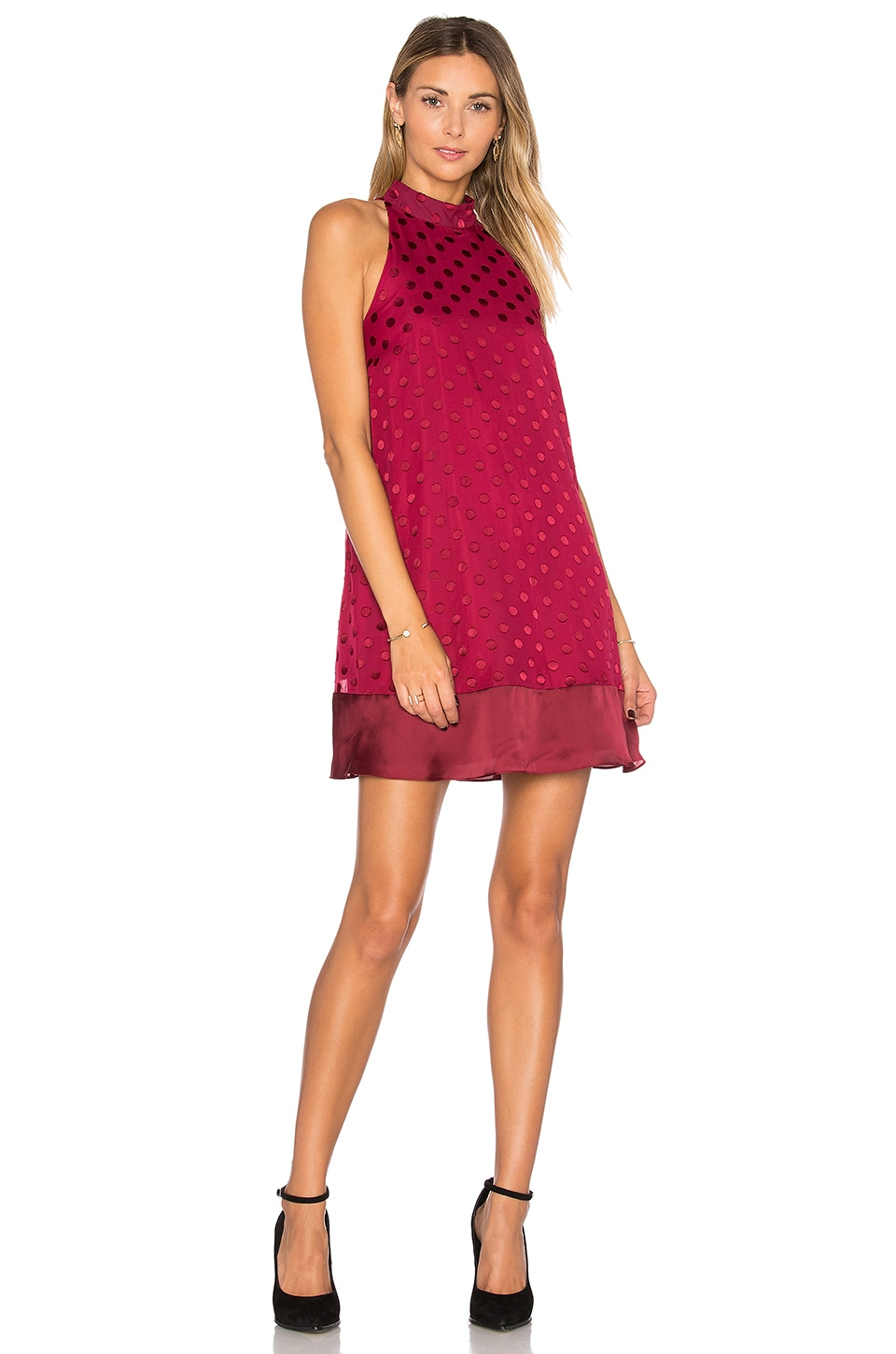 Lovers + Friends Lily Dress in Raspberry