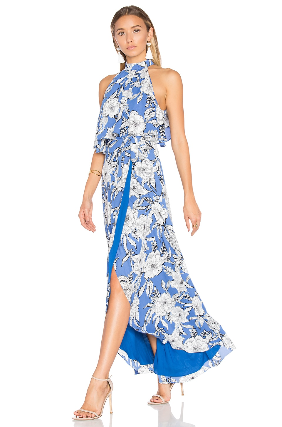 Lovers + Friends Golden Ray Maxi Dress in Riviera Floral