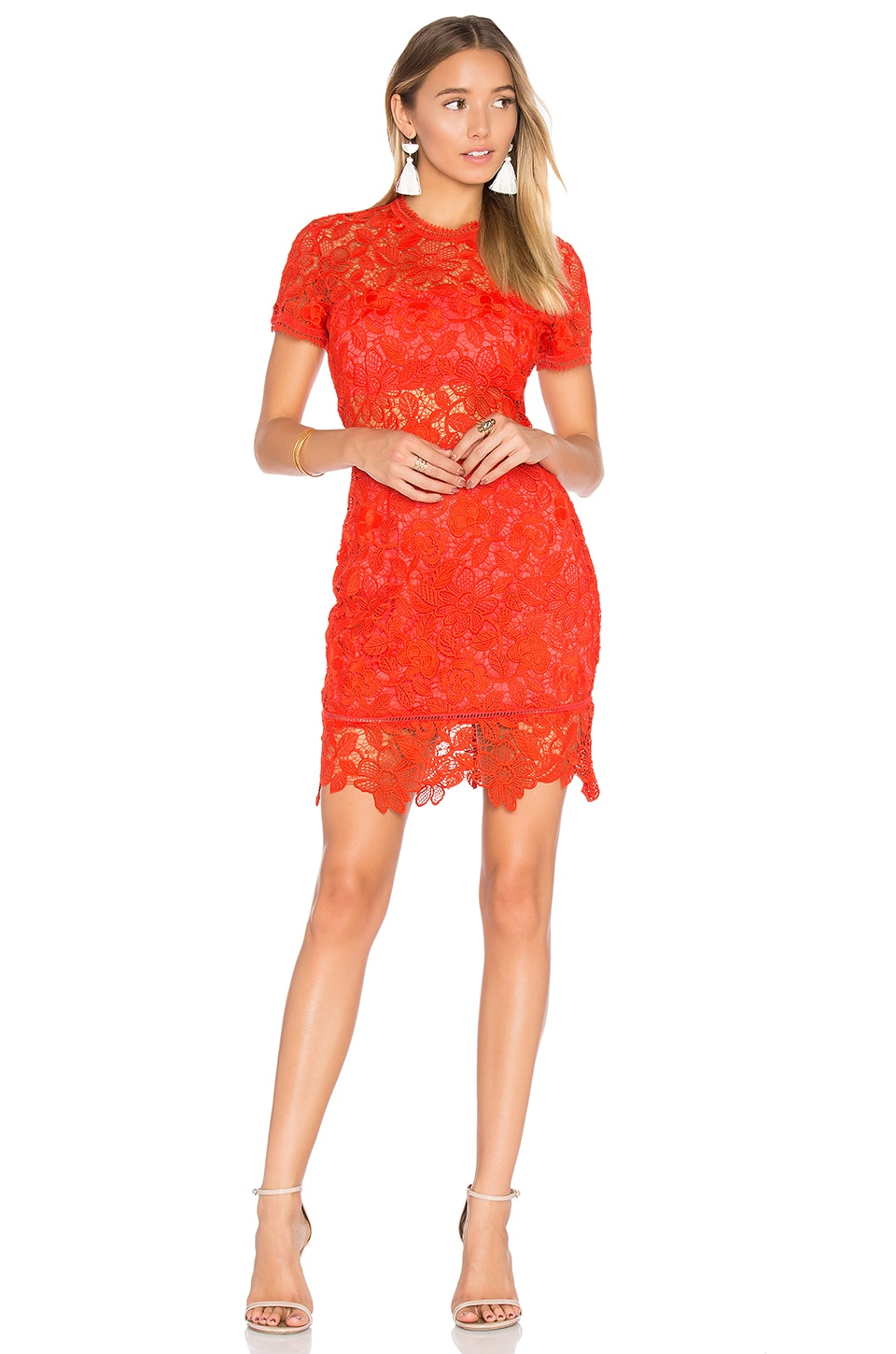 Caspian Shift Dress in Red. - size L (also in M,S,XS) Lovers + Friends
