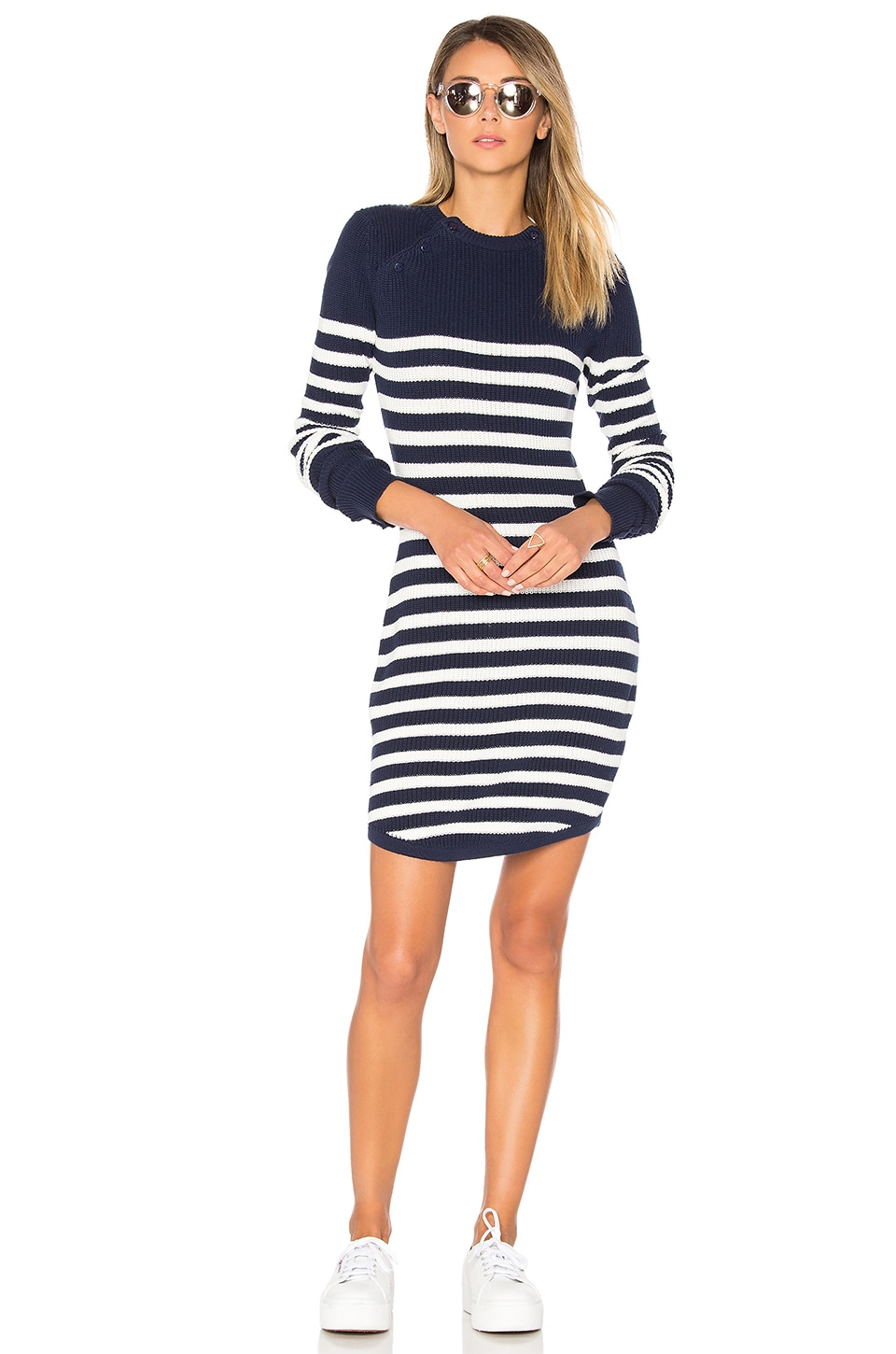 Lovers + Friends Coastline Dress in Navy Stripe