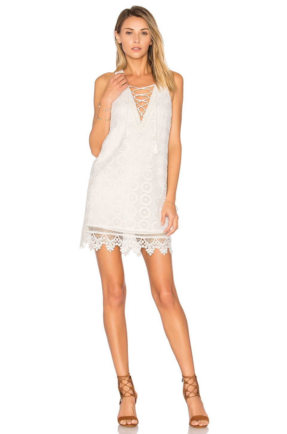 Lovers + Friends Escape Dress in Ivory