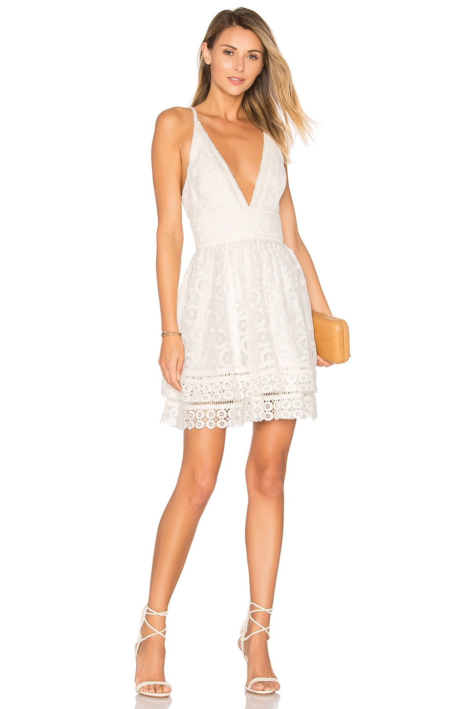 Lovers + Friends Moon Dance Dress in Ivory