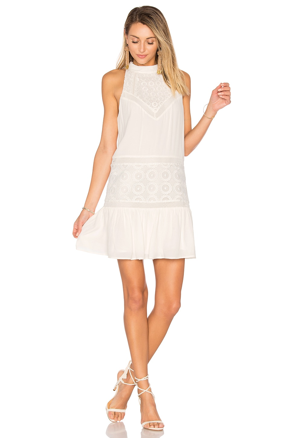 Lovers + Friends Star Chaser Dress in Ivory