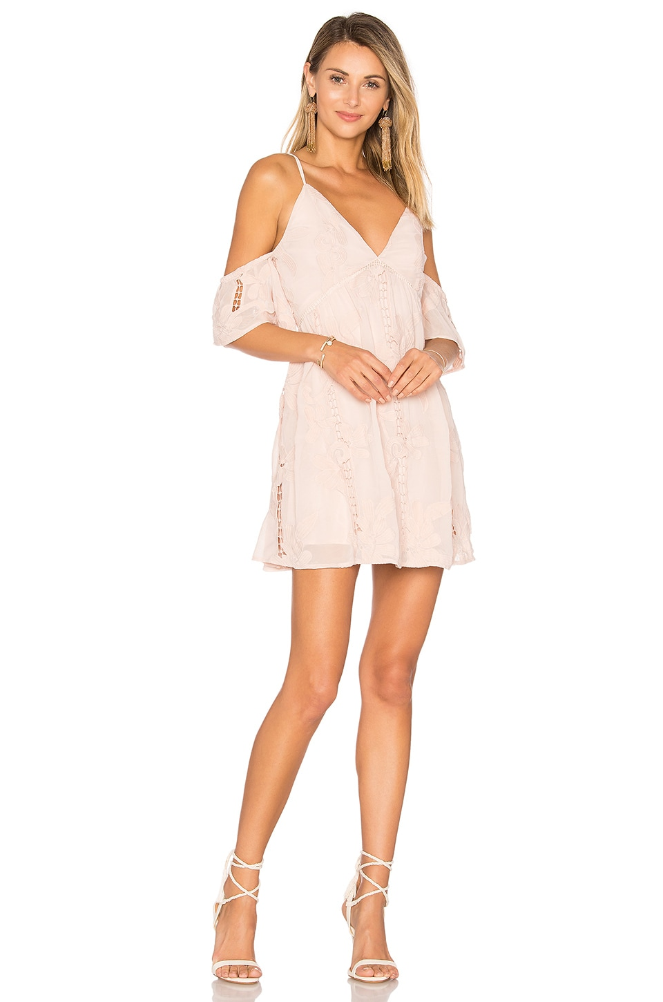 Lovers + Friends Wishful Dress in Nude