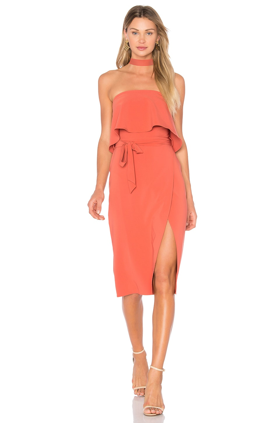 Lovers + Friends x REVOLVE Max Midi Dress in Blood Orange
