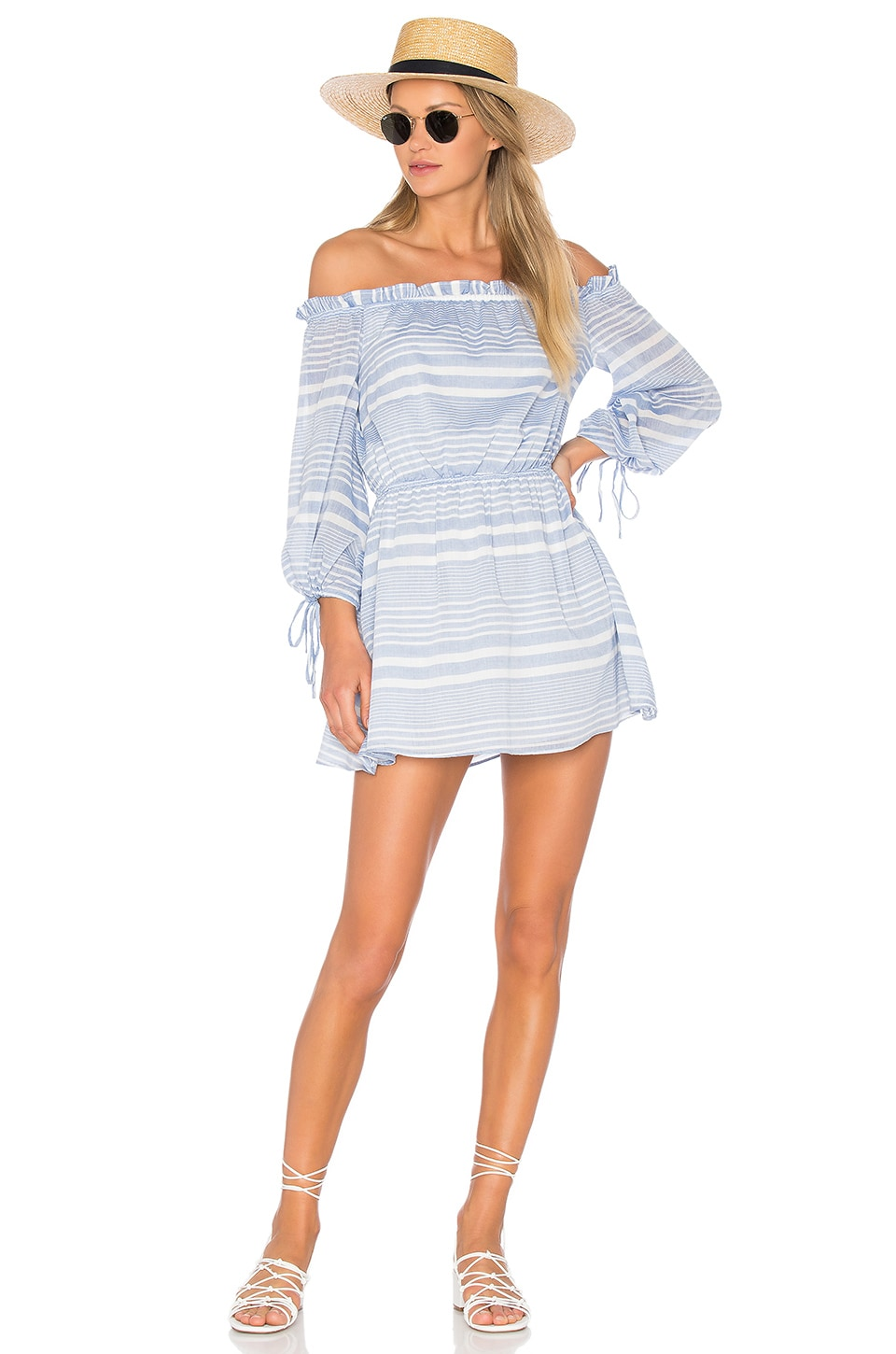 Lovers + Friends Get Lost Dress in Blueberry Stripe