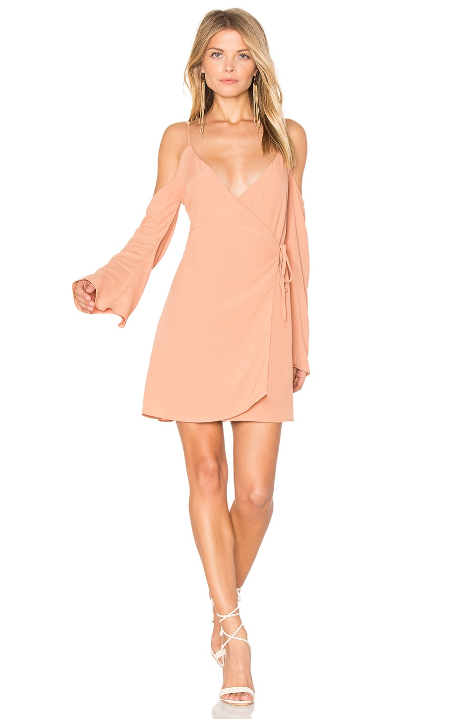 Lovers + Friends Love Letter Dress in Tan