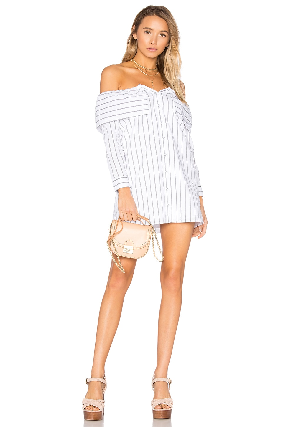 Lovers + Friends x REVOLVE Fold Over Dress in Stripe