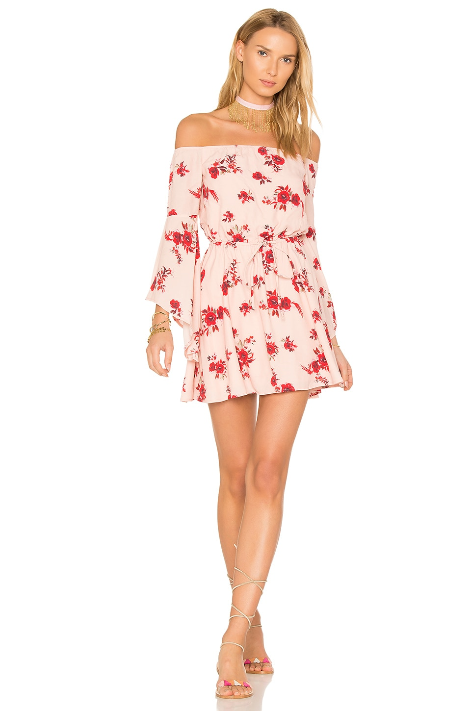Lovers + Friends Stay Dress in Blossom Print