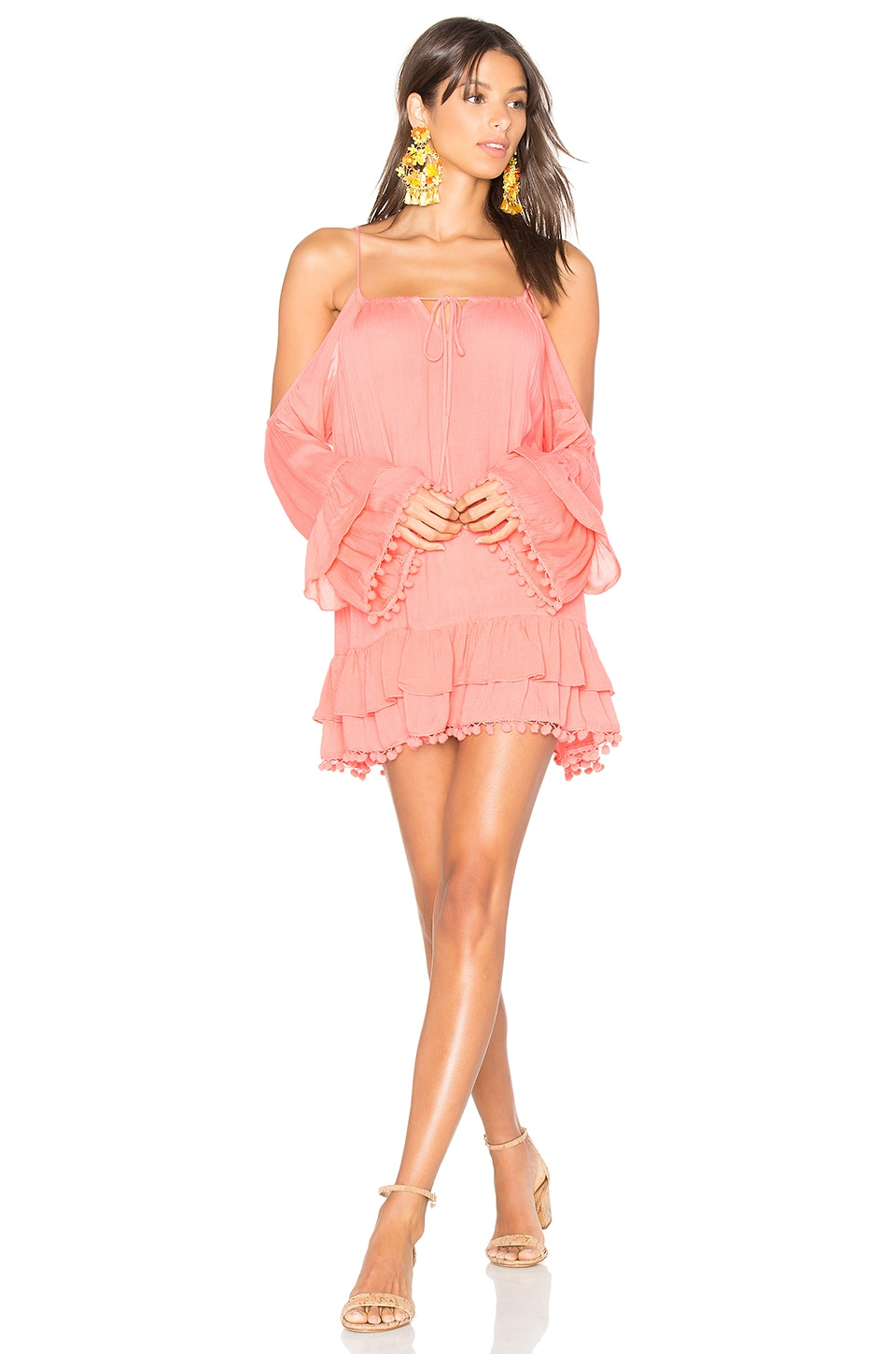 Lovers + Friends Tropical Oasis Dress in Coral