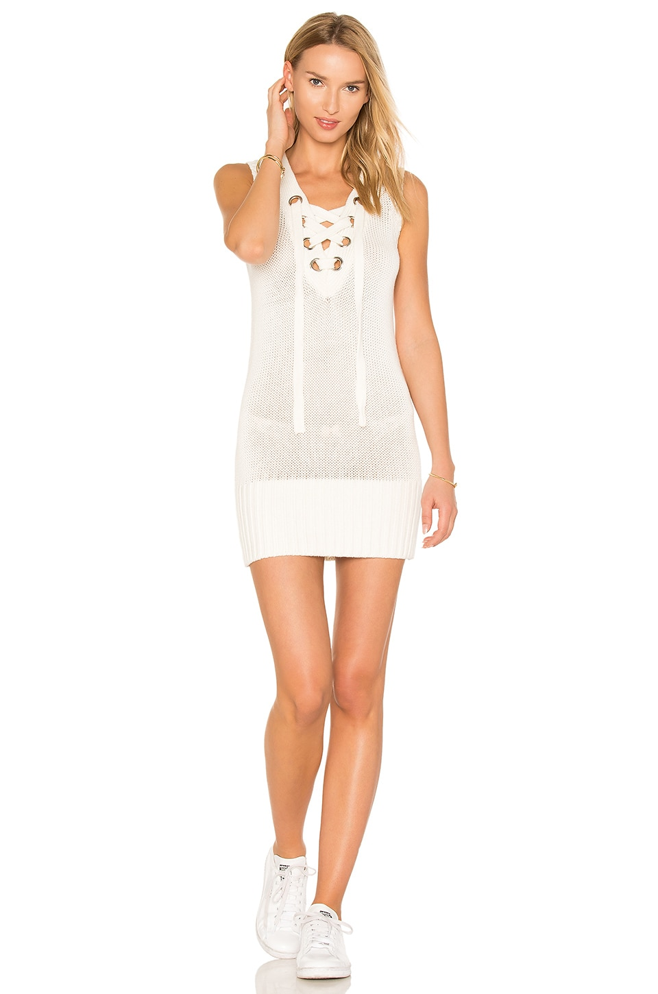 Lovers + Friends Simply Mine Sweater Dress in Ivory
