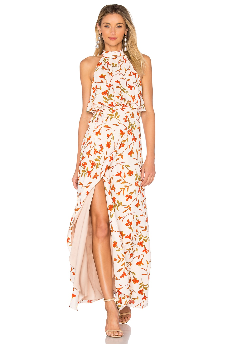Lovers + Friends Golden Ray Maxi in Palm Print