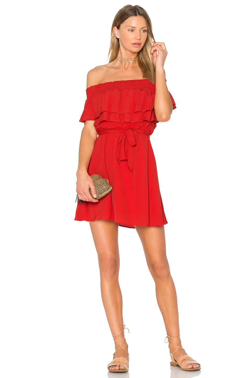 Lovers + Friends Suntime Dress in Red