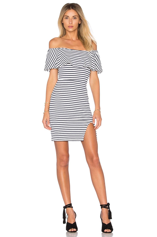Lovers + Friends Rising Sun Mini Dress in Navy Stripe