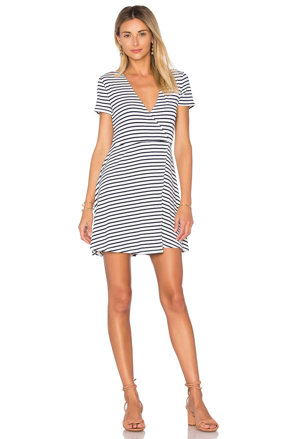 Lovers + Friends Garden Fit n Flare in Navy Stripe