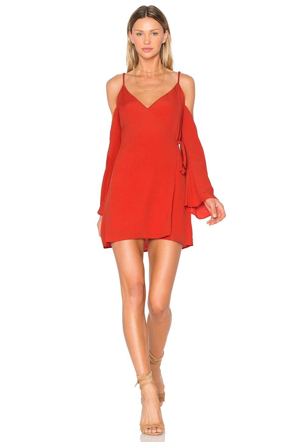 Lovers + Friends Love Letter Dress in Red