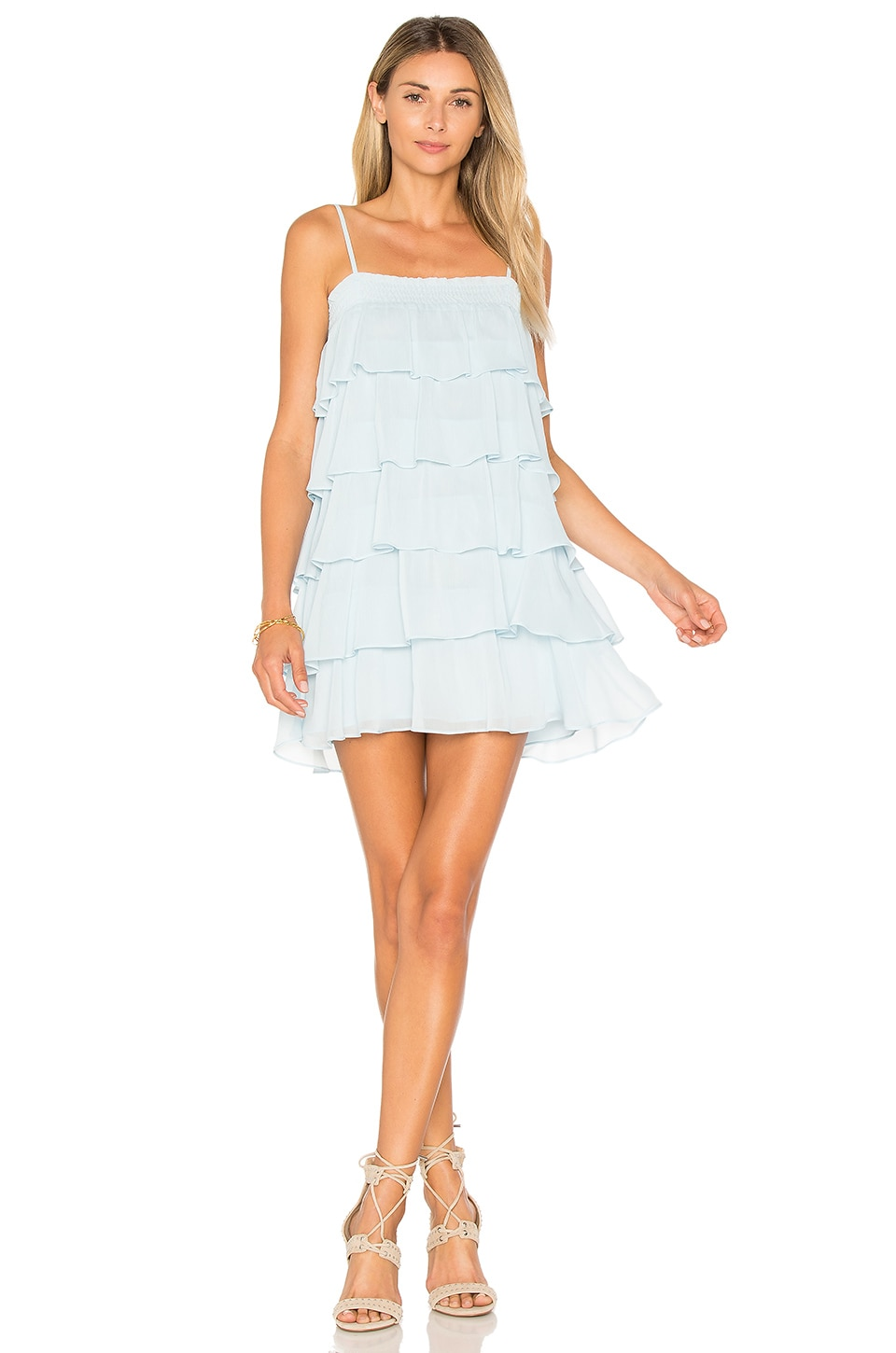 Lovers + Friends Liv Dress in Baby Blue