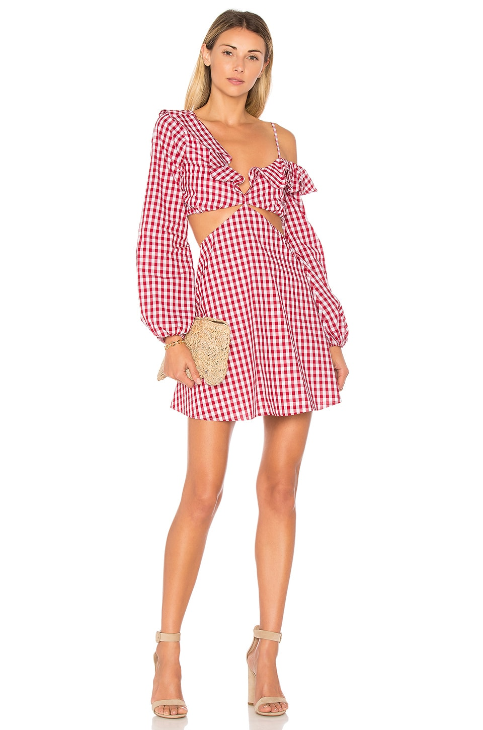 Lovers + Friends X REVOLVE Love Bliss Mini Dress in Red Gingham