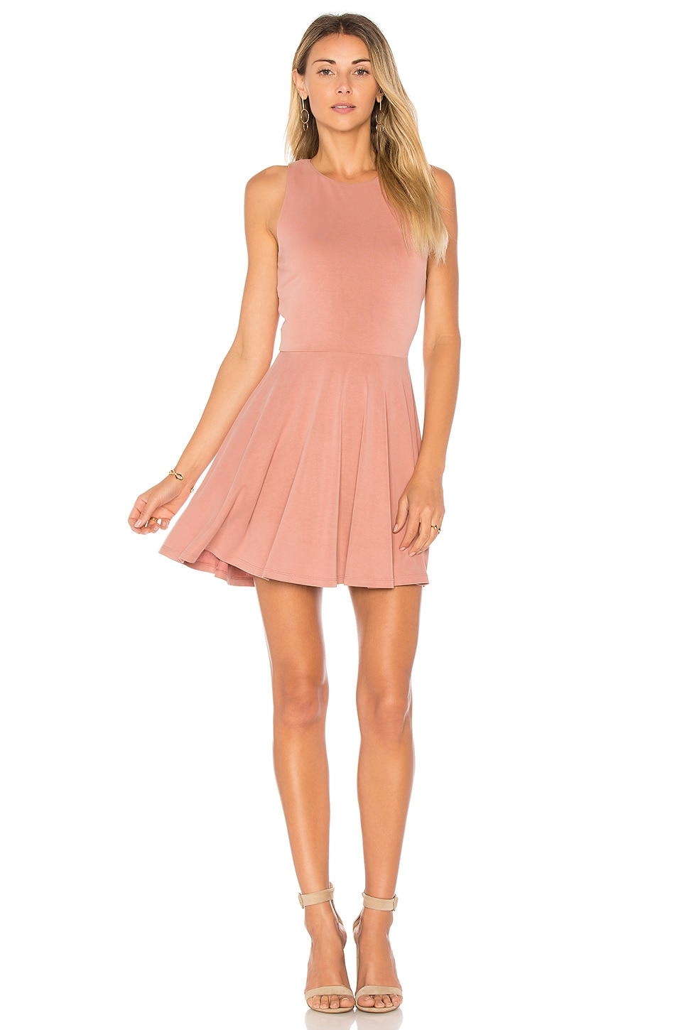 Lovers + Friends Sweet Thing Fit & Flare Dress in Mauve