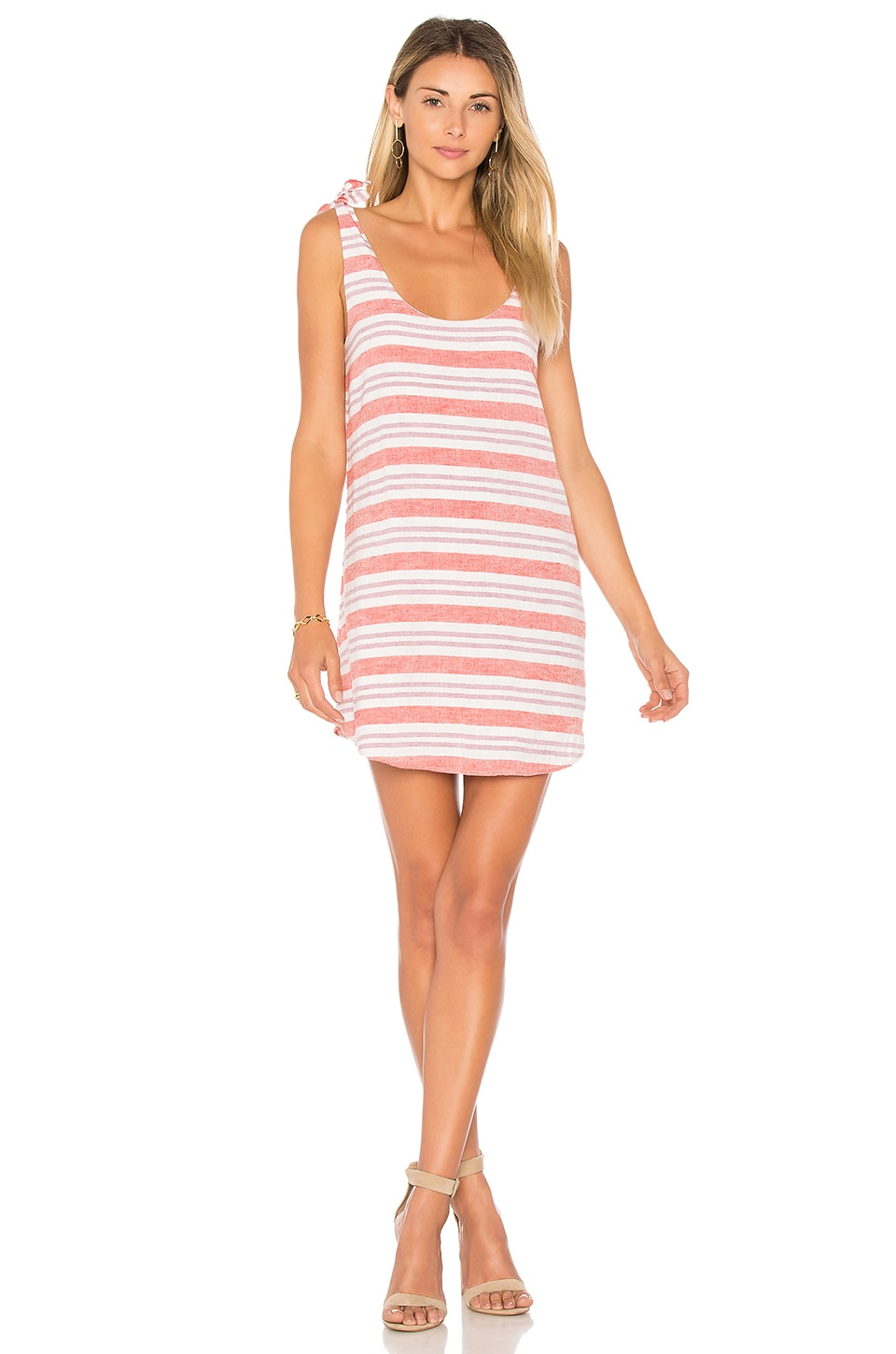 Lovers + Friends Everglades Dress in Berry Stripe