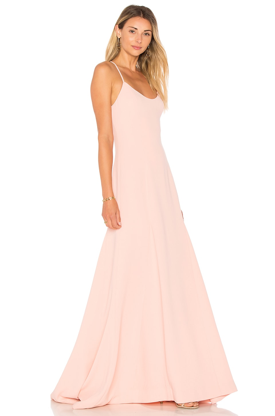 Lovers + Friends Brantford Gown in Peach