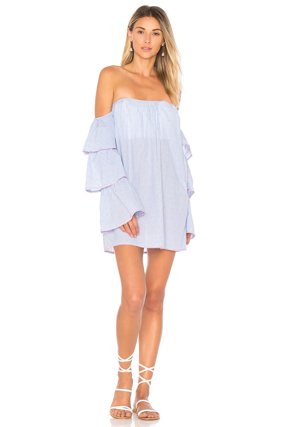 Lovers + Friends Ronita Dress in Blue Pink Dot